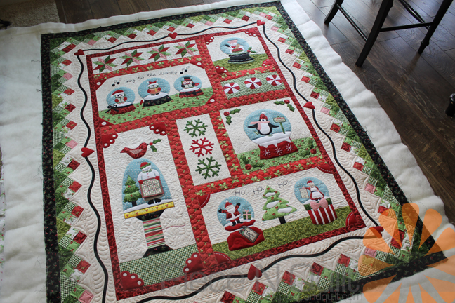 Piece N Quilt: Snow Globe Village Quilt - Custom Machine Quilting ... : globe quilt - Adamdwight.com