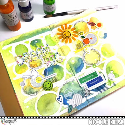 Dream Big Art Journal Layout & Exciting Announcement! | Shimmerz Paints