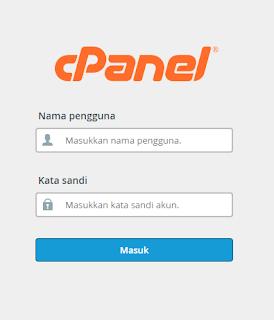 Tampilan login cPanel