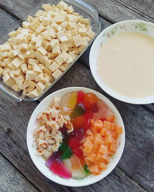 Resepi Puding Susu,bahan-bahan untuk membuat resepi puding susu