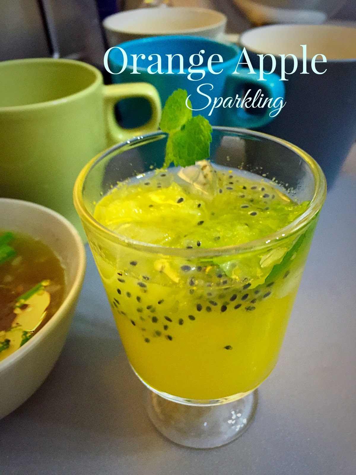 orange apple sparkling