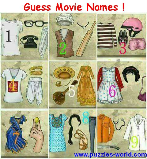 Guess Movie Names Whatsapp quiz
