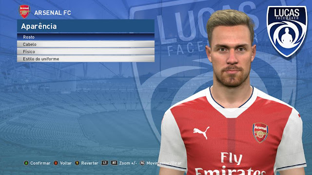PES 2017 Aaron Ramsey Face by Lucas Facemaker