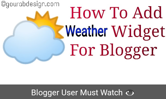 how to add responsive weather widget for blogger website