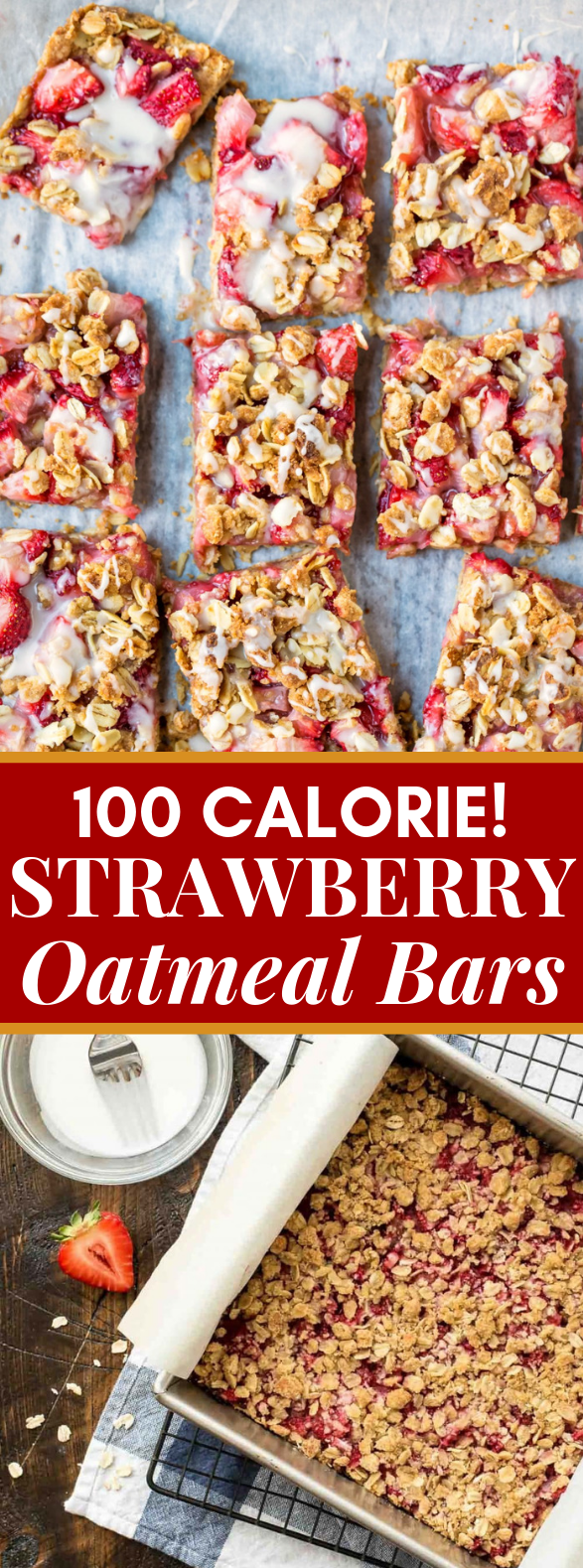 Strawberry Oatmeal Bars #healthy #dietrecipe