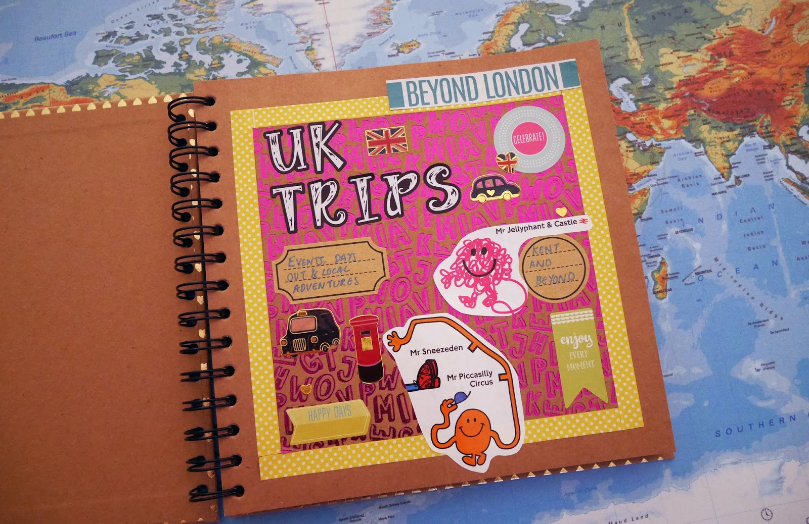 My UK day trips scrapbook. Visit more places in the UK - travel goals for 2018.