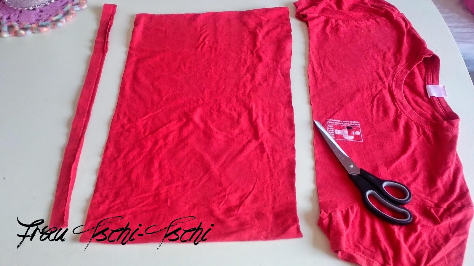 Frau Tschi Tschi T Shirt Schal Anleitung Upcycling