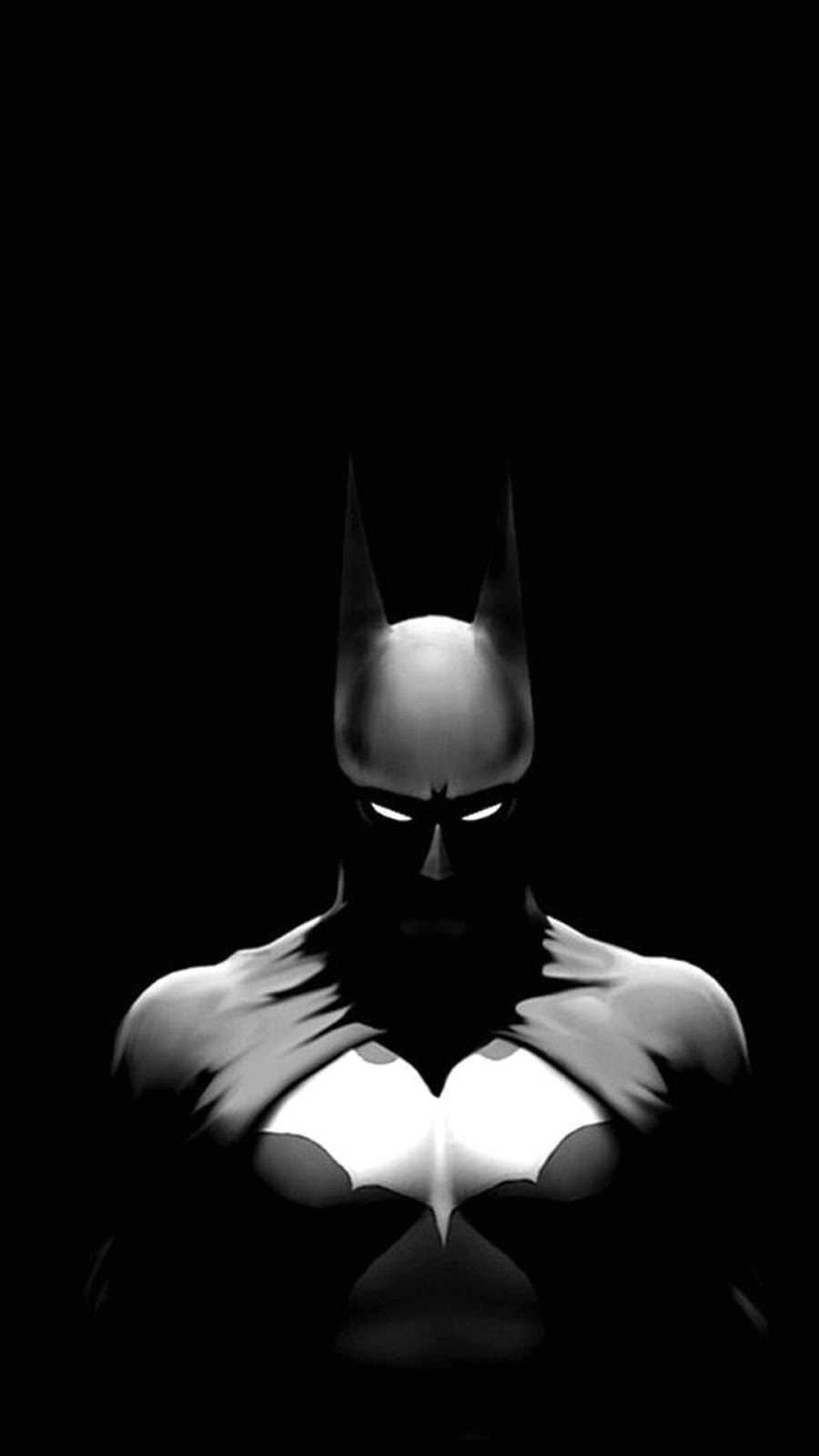 Batman black and white cool awesome wallpaper