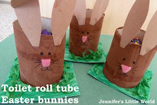 Toilet roll tube Easter bunnies
