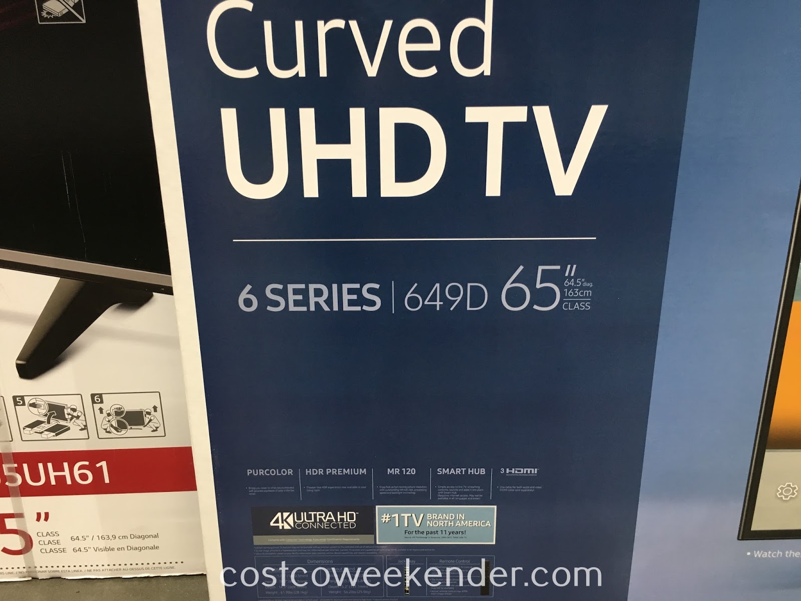 Costco 9656490 - Watch your fav shows, live sports, dvd movies, or stream online content on the Samsung UN65KU649