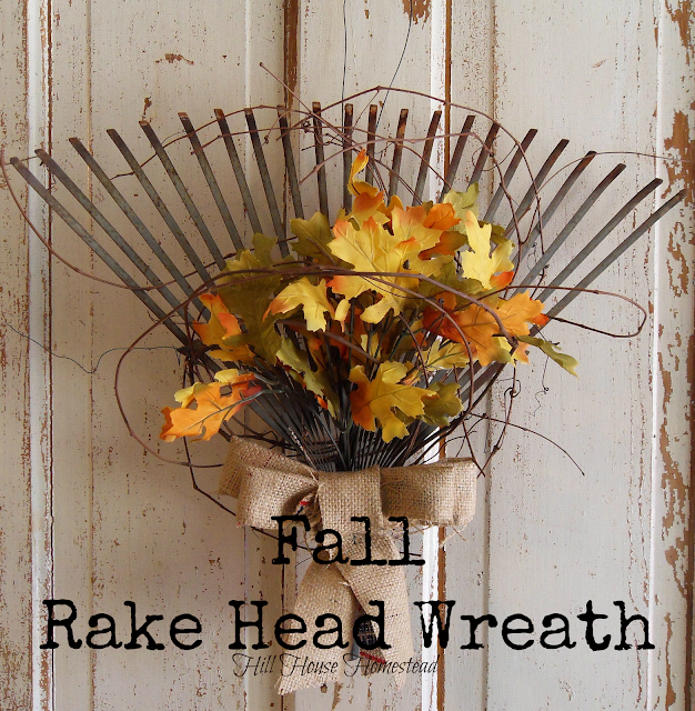 DIY Rake Fall Wreath | Easy Fall Door Decorations You Can DIY on a Budget | fall door decorations | fall door wreath