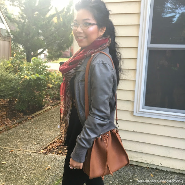 Fall Outfit Scarf and Bag Gamiss Review - Andrea Tiffany A Glimpse of Glam