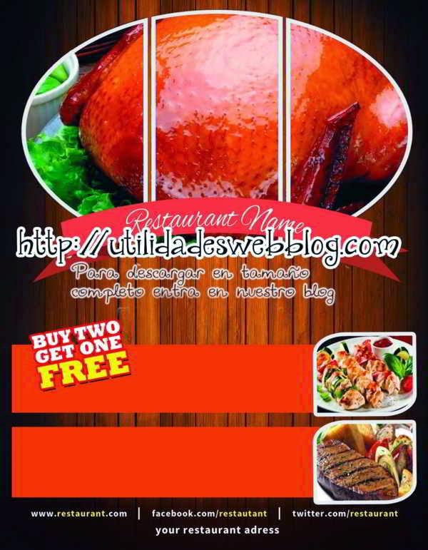 Plantilla para menu de restaurante promocional editable en photoshop