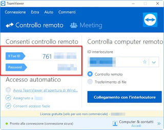 Codici d'accesso Teamviewer