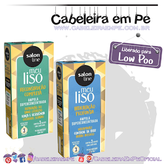 Ampolas Meu Liso - Salon Line - Reconstrução Completa e Hidratação Profunda (Low Poo)