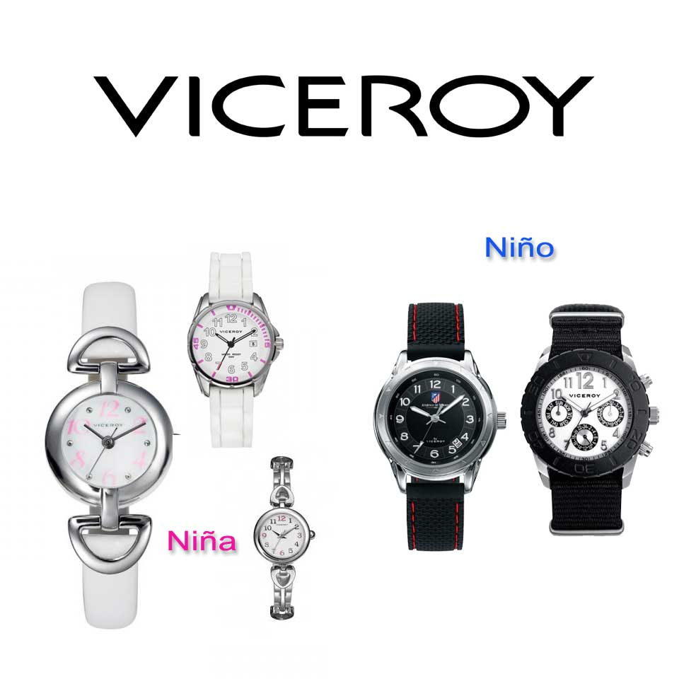33b219eb70b4 Reloj Viceroy para cadete multifunción en acero con esfera en negro y  esferas en negro con azules 46655-55 reloj de pulsera para niño comunión. Reloj con ...