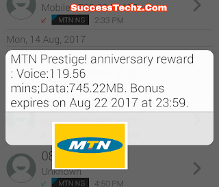 MTN Pretige! Get Free 750MB and 120minute Free Calls For 7days