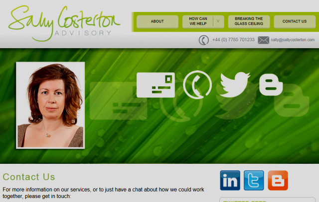 screenshot from Sally Costerton Advisory Limited website: sallycosterton.com