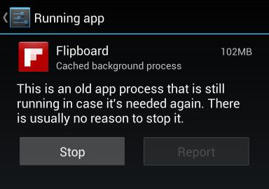 Contoh aplikasi yang aktif di latar belakang
