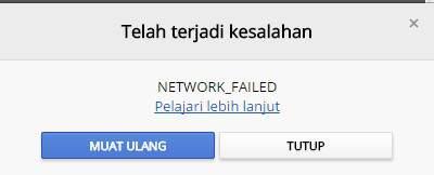 Instal Extension Google Chrome Failed Network