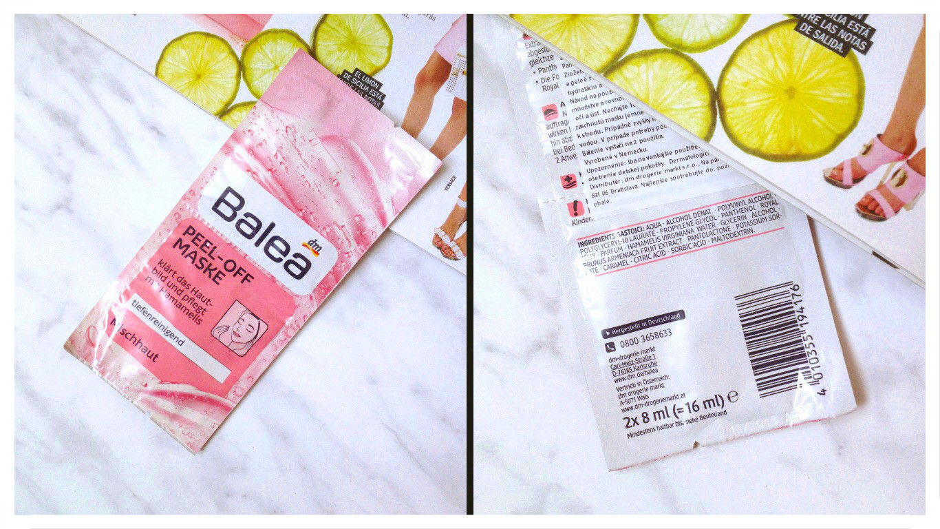 balea  peel off mask