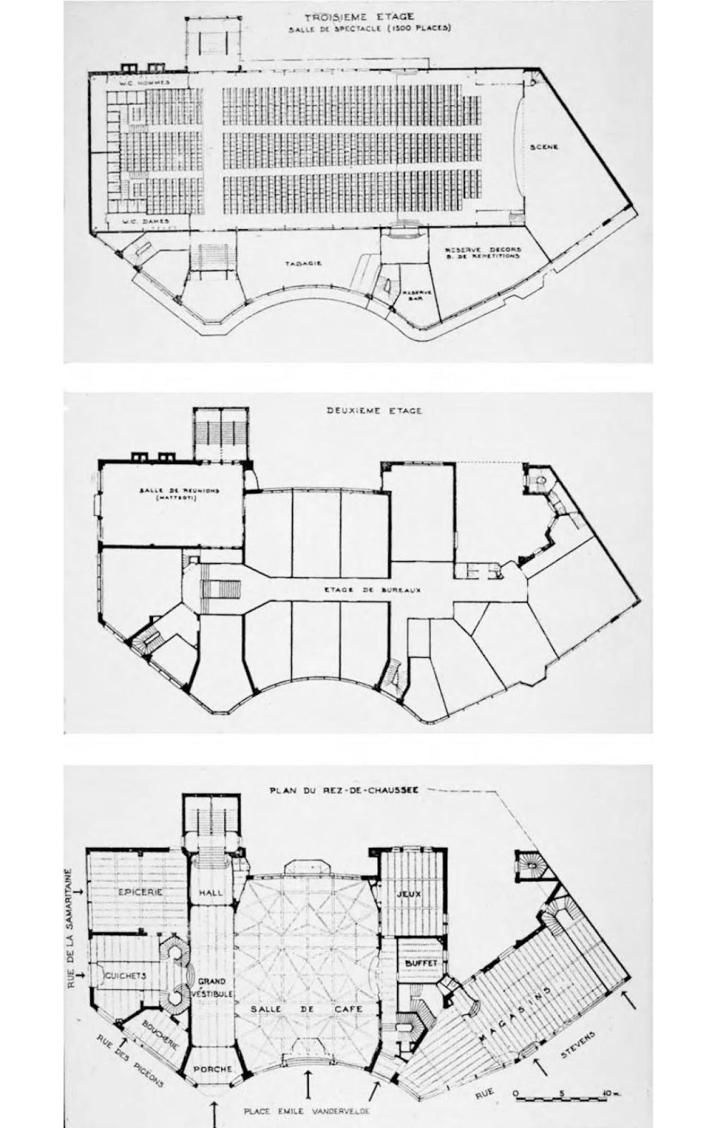 Hidden architecture maison du peuple house of the people for Architecture de maison
