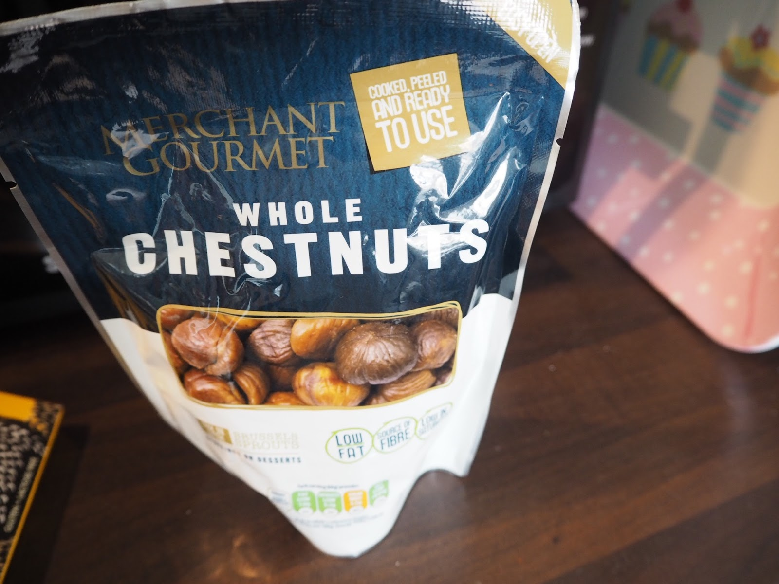 packet of Merchant Gourmet whole Chestnuts