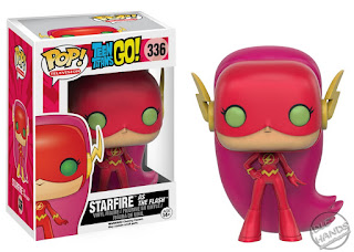 San Diego Comic-Con 2016 Toys R Us Exclusive POP! TV vinyl figure Teen Titans Go! Starfire as DC Comics The Flash from Funko