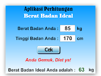 Download Aplikasi Cara Cek Berat Badan Ideal