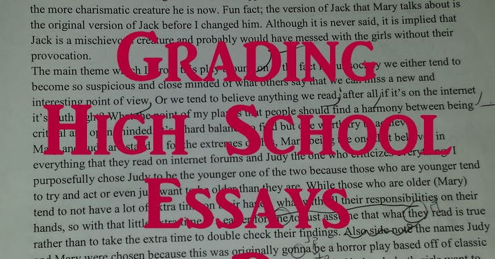 grading high school essays Grading system, gpa, education - the problems with american schools' grading system.