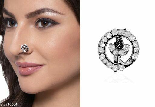 Designer Oxidized Metal Women's Nose Pin