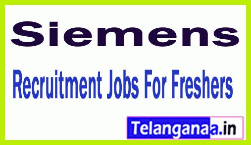 Siemens Recruitment Jobs For Freshers Apply