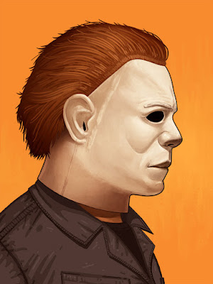 "Halloween ""The Shape"" Print by Mike Mitchell"