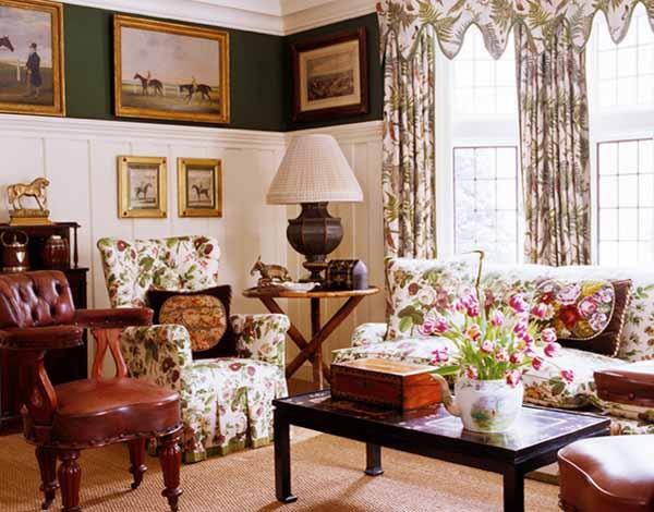 Decoraci n de salas con cuadros colores en casa for Cuadros estilo clasico