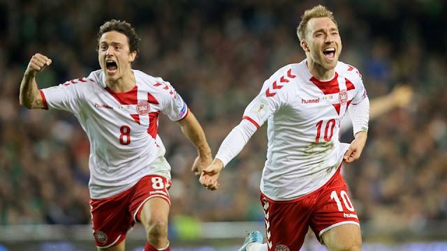 Dinamarca aplastó a Irlanda para ir a Rusia 2018