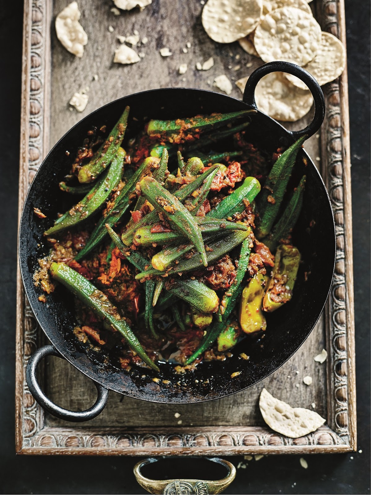 Four Seed-Spiced Okra With Tomatoes By Anjum Anand