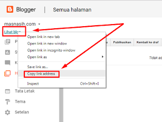 cara membuat alamat blog sendiri