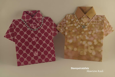 Karte Damenbluse mit Stampin´ Up!