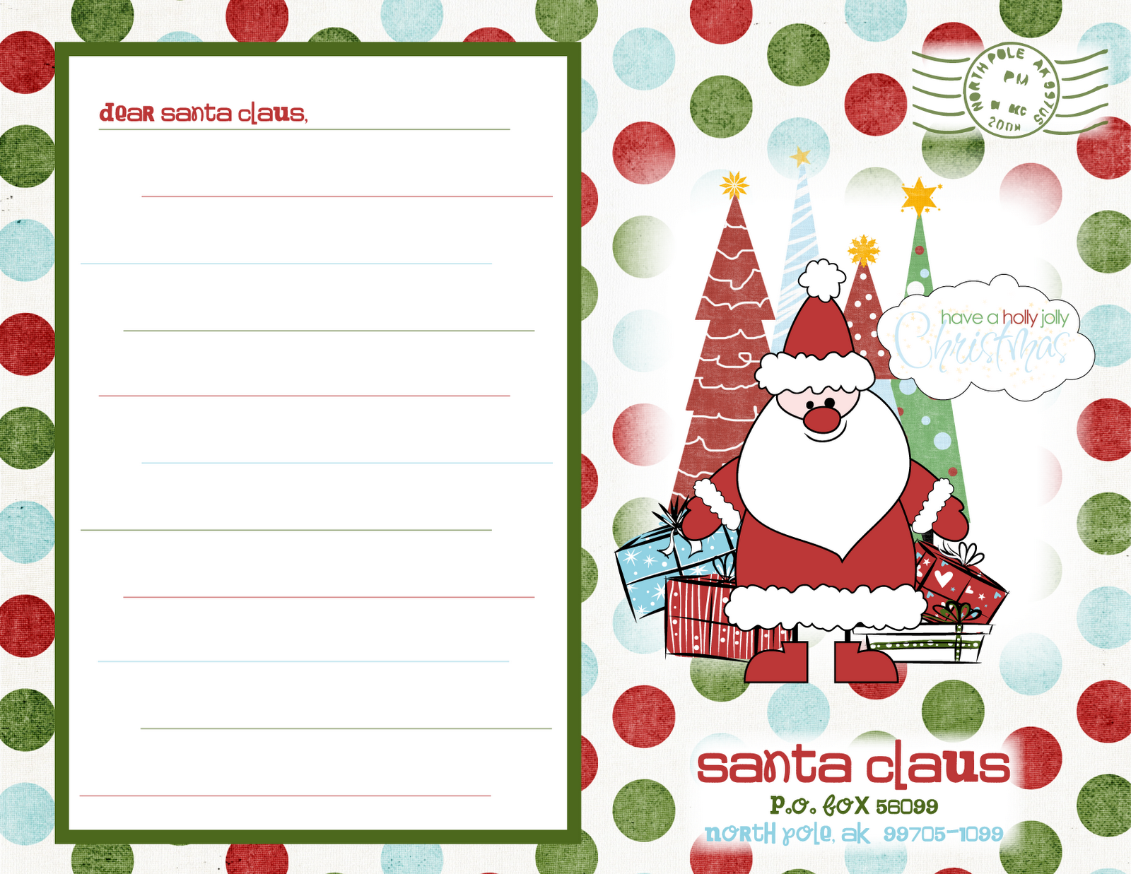 ... letter from santa template. free santa coloring pages. serousness.p7