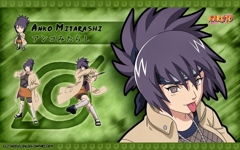 Anko Mitarashi (みたらしアンコ, Mitarashi Anko) is a tokubetsu jōnin who teaches at Konohagakure's