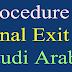 Final Exit in Saudi Arabia