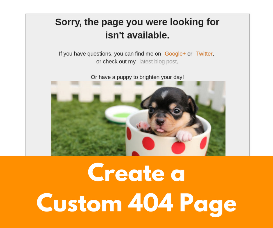 "Blog Not Found: Create A Custom ""Page Not Found"" For Your Blogger Blog"