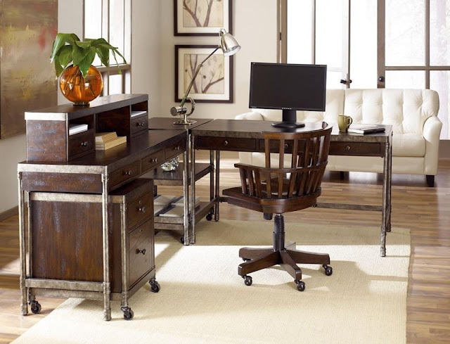 best buy l shaped home office furniture desks Melbourne with wood chair for sale
