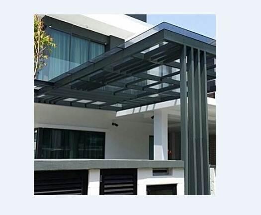 Model Kanopi Rumah Minimalis Type 45 Warna Hitam