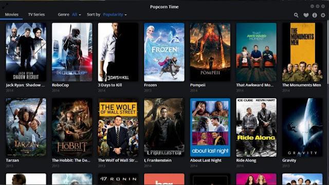 تنزيل تطبيق Popcorn Time للاندرويد للإستمتاع الاستمتاع بجميع الأفلام