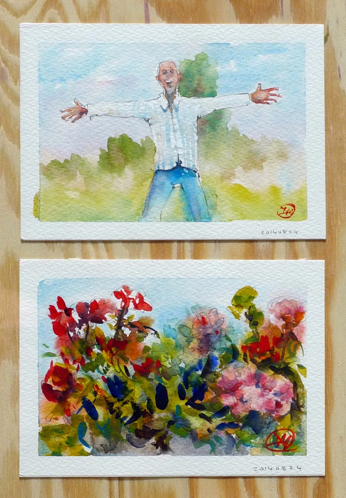 Watercolour postcards by David Meldrum