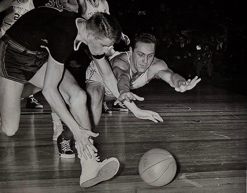 1951 West Virginia vs NYU College Basketball Wire Photo