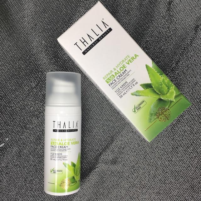 Thalia Aloe Vera Serisi Onarıcı ve Nemlendirici Yüz Kremi