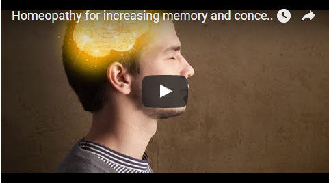 Homeopathy for increasing memory