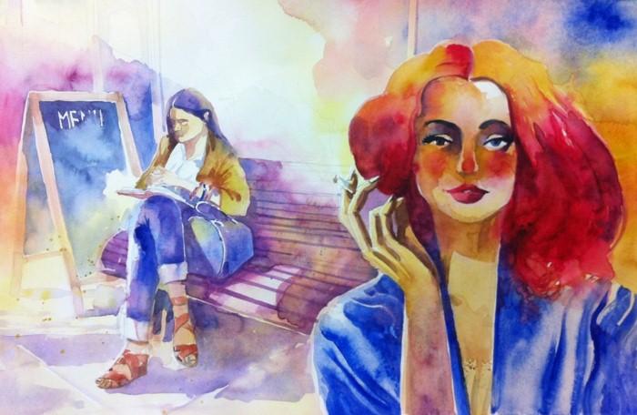 Акварельные рисунки. Alessandro Andreuccetti 17